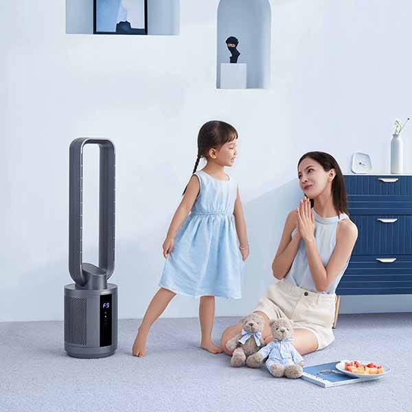 Chinese Professional Mini Portable Air Cooler - Bladeless tower purifying fan – Meiling detail pictures