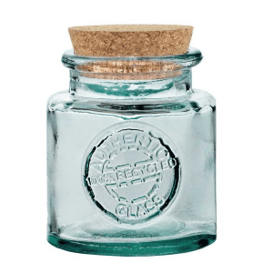 Vintage Authentic Bath Salt Jar 500ml made from Recycled Glass