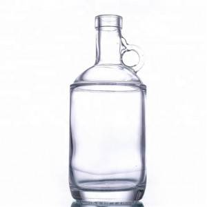 750ml Glass Jug Bottle with Handle for liquor