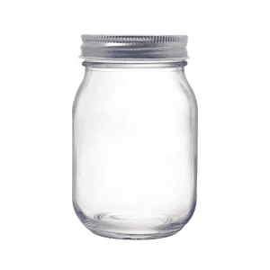 Regular Mouth 16OZ Glass Mason Jar with Lid for Honey Jam