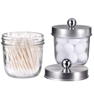 Stainless Steel Mason Lid For Qtips Cotton Swabs