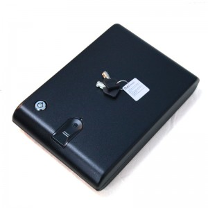 Biometric Fingerprint Storage Safe Box Black Steel Pistol Box D-120