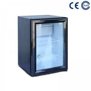 China Gold Supplier for Hotel Room Bar Fridge - Glass Door Hotel and Home Use Mini Beverage Fridge M-25T – Mdesafe