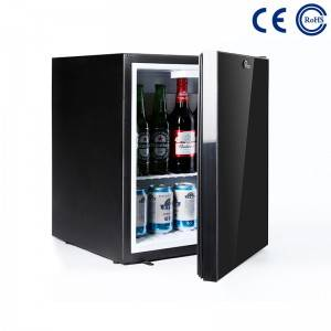 OEM Supply High Quality Five Star Hotel Mini Bar With Plastic Door - Mirror Glass Door Hotel Mini Bar Fridge Professional Hotel Minibar Fridge M-30C – Mdesafe