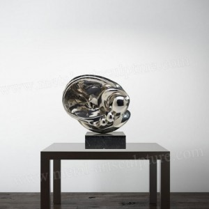 Modern Art mirror surface Stainless Steel Sculpture Indoor Ornament,OEM & ODM Welcome