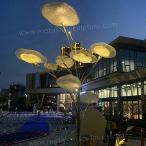 Steel Garden Sculptures with LED light