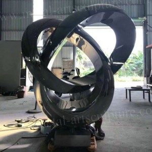Metal Sculpture Mirror Surface Circle Shape for Malaysia Inter Hotel Ornaments
