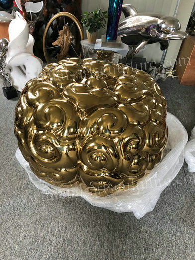 Clay Molds Home Garden Statues And Ornaments Design Ideal Metal Brain Sculpture