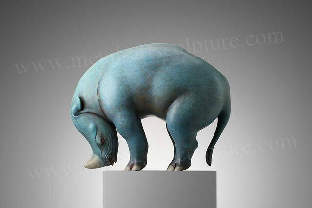 Indoor Ornament Cast Bronze Sculpture Artificial Style Bronze Animal Statues