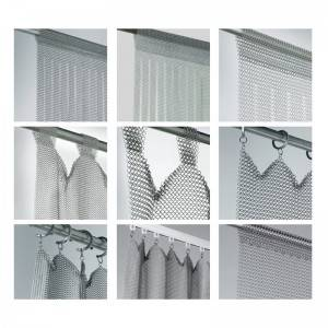Factory Free sample Galvanised Wire Mesh Panels - Chainmail Curtain Decorates Your Room And Office – BOEDON
