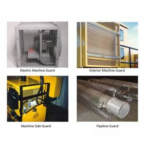 Expanded Metal Machine Guard Protecting People Safe