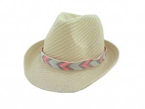 China Cheap price Shoulder Bag - Fashion straw paper summer hat with arrow pattern ribbon –  Mia Creative