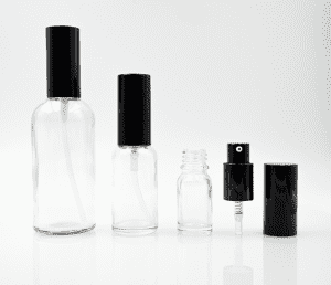 5-100ml Clear glass bottle with sprayer and cap