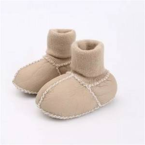 Factory Outlets Kids Fall Boots - Babies Lambskin Sock Booties/boots – Fanshen