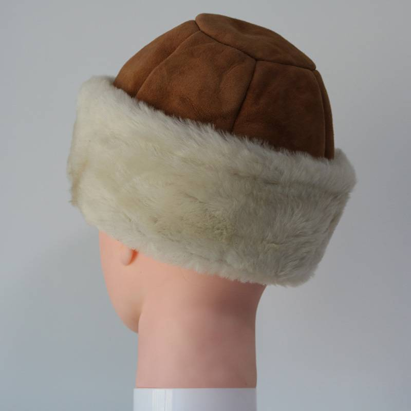 2020 High quality Sheepskin Trapper Hat - Classical around sheep shearling hats – Fanshen