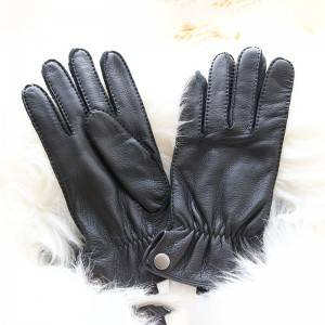 Deerskin driving casual handsewn gloves with three points