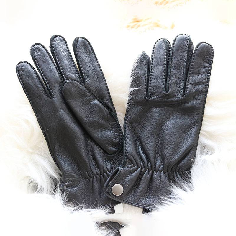2020 China New Design Firm Grip Deerskin Gloves - Deerskin driving casual handsewn gloves with three points – Fanshen
