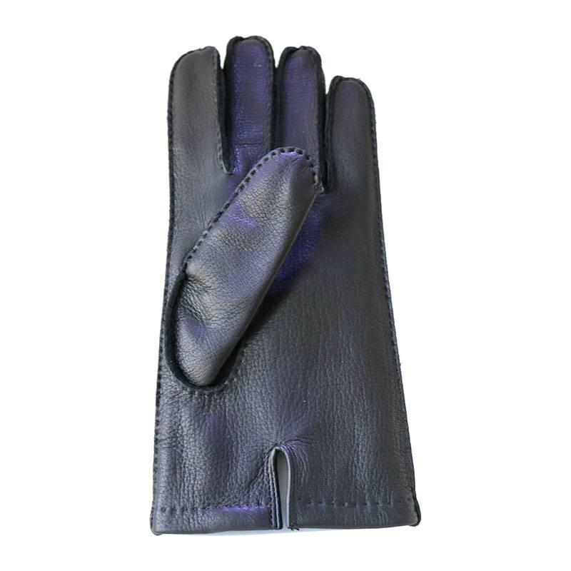 Excellent quality Yellow Deerskin Gloves - Deerskin driving casual handsewn gloves with three points – Fanshen