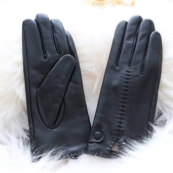 Factory source Pigskin Driving Gloves - Ladies sheep leather gloves with 2 rows of hand-stitching on back – Fanshen