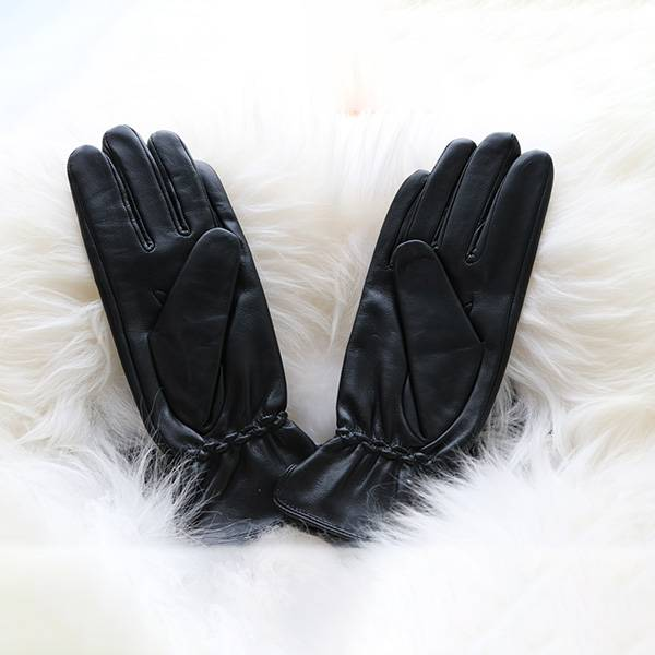 Factory wholesale Goatskin Gardening Gloves - Ladies sheep leather gloves with Leather Strap Decoration – Fanshen