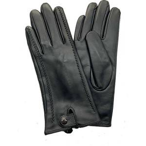 Factory Price For Fingerless Sheepskin Gloves - Ladies sheep leather dress gloves with a button closure cuff – Fanshen