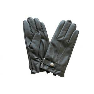 Factory source Pigskin Driving Gloves - Men lamb/sheep leather fleece lined winter gloves with button  – Fanshen