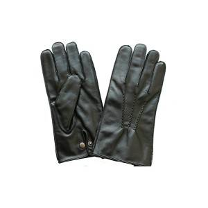 Manufacturer of Elkskin Leather Gloves - Men lamb/sheep leather fleece lined winter gloves with button  – Fanshen