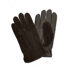 Men lamb/sheep suede leather fleece lined winter gloves