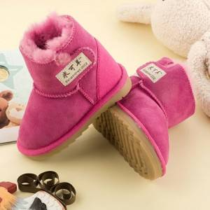 Factory Outlets Kids Fall Boots - Kids/Children Toddler sheepskin/lambskin Booties/boots – Fanshen