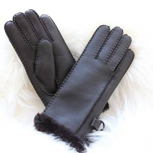 Handmade Napa leather sheepskin gloves with a point of handstitching feature