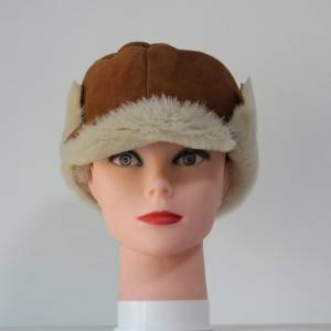 Shearling Sheepskin visor winter hats
