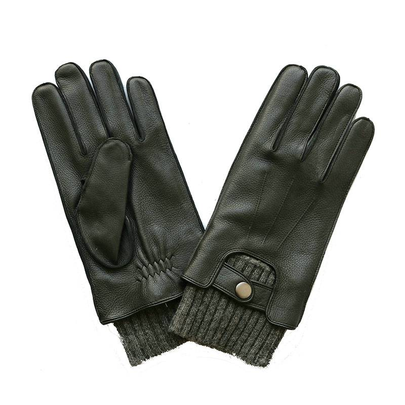 Low price for Deerskin Leather Gloves – Stylish classical deerskin gloves with fleece cuff – Fanshen