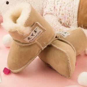 Good Quality Sheepskin Babies Boots - Baby Full Sheepskin Booties/boots with Velcro – Fanshen