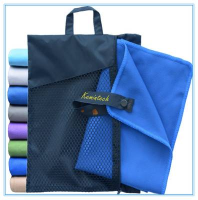 cheap personaliezed microfiber gym towels with zip pocket