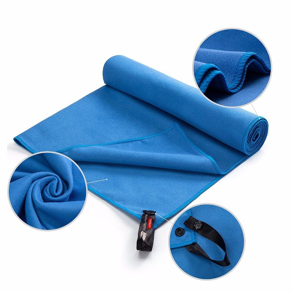 microfiber cloth microfibre fabric pocket golf towel with clip