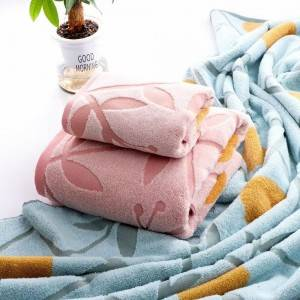 Cotton yarn-dyed towel set 2