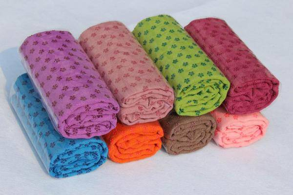 wholesale non-slip yoga mat towel players used microfiber sports towel