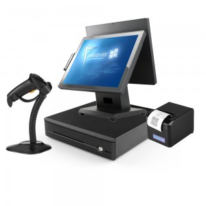 MINJCODE POS1515 Manufacturer for China All in One POS Terminal Restaurant POS Terminal