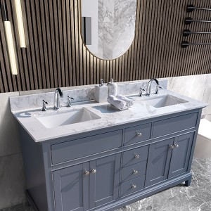 Factory wholesale Super Nano Glass Artificial Stone - artificial marble vanity top – Montary