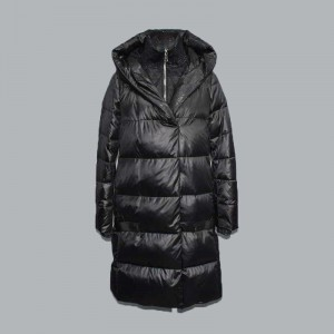 OEM Supply Ladies Down Jacket - Women's simple mid-length thin classic down jacket, cotton jacket 025 – Qinghua Haichuang