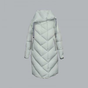 Wholesale Dealers of Quilted Down Jacket - Autumn and winter new women's diagonal quilted lapel capless warm down jacket, cotton jacket 030 – Qinghua Haichuang
