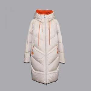 Europe style for Pink Coat Womens - Autumn and winter women's long hooded warm casual long down jacket, cotton jacket 102 – Qinghua Haichuang