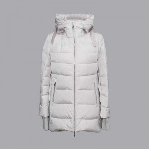 Cheapest Price Lightweight Parka Womens - Autumn and winter women's new hooded mid-length simple casual down jacket, cotton jacket 081 – Qinghua Haichuang