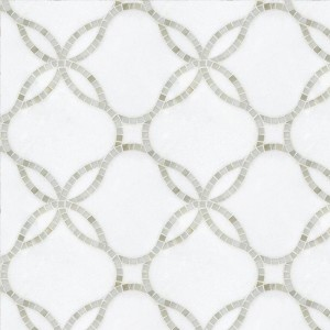 Hot sale China Waterjet White Marble Mosaic for Indoor Floor Wall Ceiling