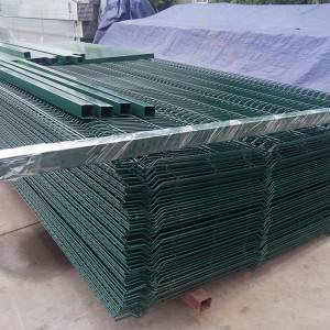 Factory wholesale Steel Temporary Fence - Triangular bent Curved Fence – Mujiang