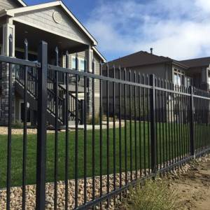 Zinc and Steel Fence