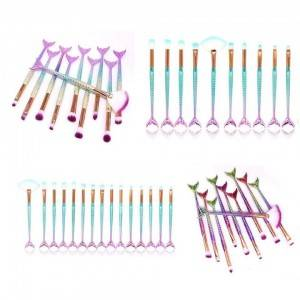 10pcs Mermaid Makeup Brush Set Eye Make Up Brushes