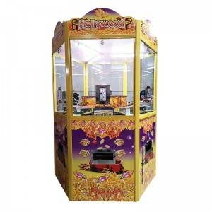 Coin operated coin pusher game machine for 6 players