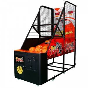 Coin operated arcade game basketball game machine for adults