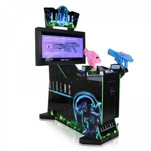 Coin Operated Arcade 42LCD Aliens Shooting Game Machine
